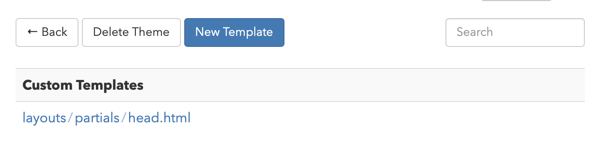 The newly created template appears in the Custom Templates section.