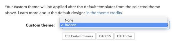 Select a custom theme.