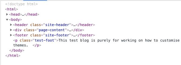 Inspect a web page.