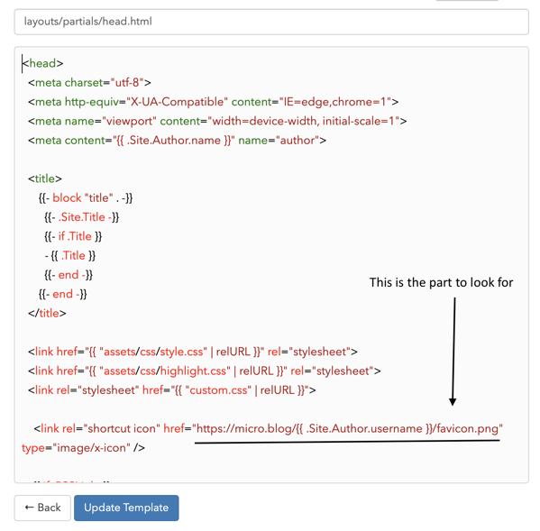 Edit head-html template.