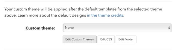 Click on Edit Custom Themes.