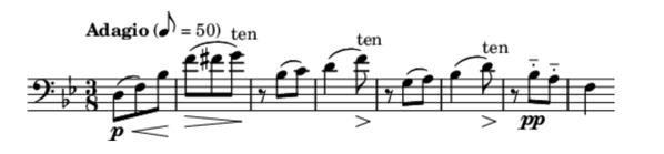 Music score fragment.