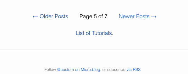 Page numbering on this Custom blog.