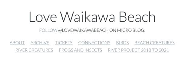 Header  of my Love Waikawa Beach blog.