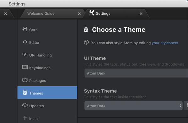 Atom themes.