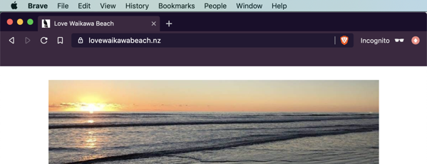Love Waikawa Beach blog with banner, but notice the gap.